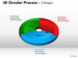 3D Circular Process Chart ppt Templates 6