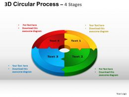 3D Circular Process Cycle Diagram Chart 4 Stages Design 2 ppt Templates 0412