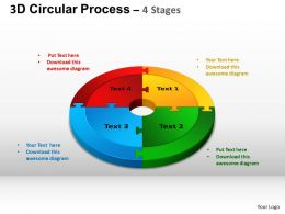 3D Circular Process Cycle Diagram Chart 4 Stages Design 3 ppt Templates 0412