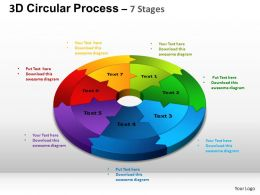 3D Circular Process Cycle Diagram Chart 7 Stages Design 2 ppt Templates 0412