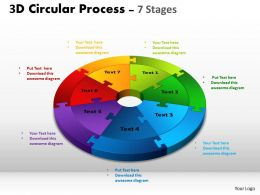 3D Circular Process Cycle Diagram Chart 7 Stages Design 3 Powerpoint Slides And ppt Templates 0412