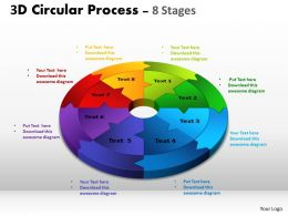 3D Circular Process Cycle Diagram Chart 8 Stages Design 2 Powerpoint Slides And ppt Templates 0412 6