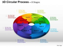 3D Circular Process Cycle Diagram Chart 8 Stages Design 2 ppt Templates 0412