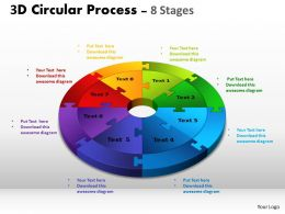 3D Circular Process Cycle Diagram Chart 8 Stages Design 3 Powerpoint Slides And ppt Templates 0412 6