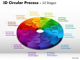 3D Circular Process Cycle Diagrams ppt Templates 3