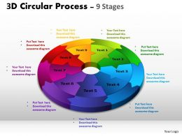 3D Circular Process flow ppt Templates 3