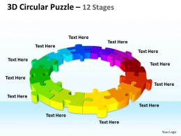 3D Circular Puzzle 12 Stages
