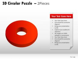 3d Circular Puzzle 2 Pieces Powerpoint Presentation Slides