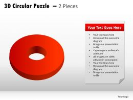 3D Circular Puzzle 2 Pieces PPT 1