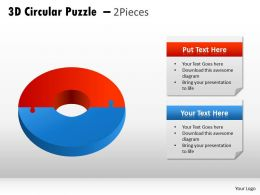 3D Circular Puzzle 2 Pieces PPT 2