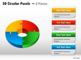 3D Circular Puzzle diagram PPT 5