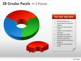 3D Circular Puzzle With Pieces PPT 2