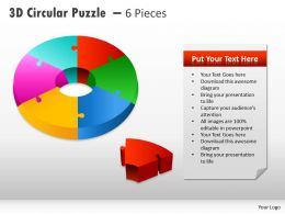 3D Circular Puzzle With Pieces PPT 5