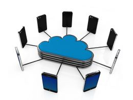 3D Cloud Networking Concept Stock Photo