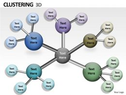 3d Clustering PPT Graphics