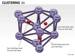 3d Clustering PPT Icon