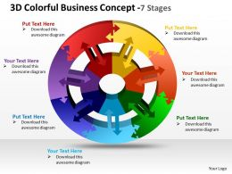 3d colorful business concept 7 stages powerpoint templates graphics slides 0712