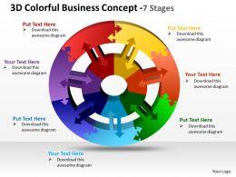 3d colorful business concept 7 stages powerpoint templates graphics slides 0712