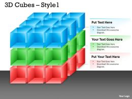 3D colorful Cubes With Arrows 12