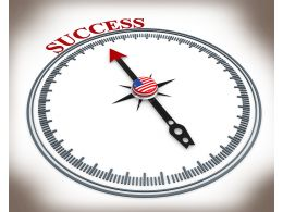3D Compass With Word Success Stock Photo