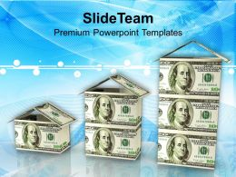 3d Concept Real Estate Dollar Houses Powerpoint Templates PPT Themes And Graphics 0113