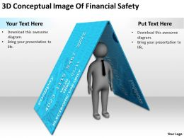 3D Conceptual Image Of Financial Safety Ppt Graphics Icons Powerpoint