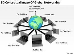 3D Conceptual Image Of Global Networking Ppt Graphics Icons