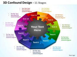 3d confound design 11 stages powerpoint templates graphics slides 0712