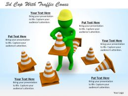 3d Cop With Traffic Cones Ppt Graphics Icons Powerpoint