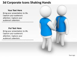 3d Corporate Icons Shaking Hands Ppt Graphics Icons Powerpoint