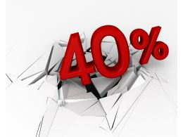 3D Crack Effect With 40 Percent Stock Photo
