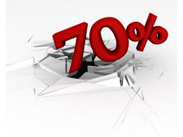 3D Crack Effect With 70 Percent Stock Photo