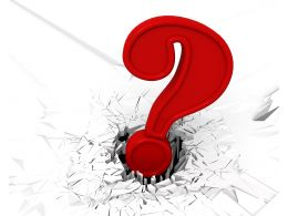3D Crack Effect With Red Question Mark Stock Photo