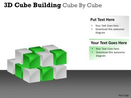 3D Cube Building Cube By Cube PPT 34