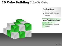 3D Cube Building Cube By Cube PPT 35