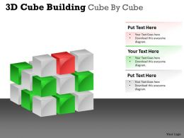 3D Cube Building Cube By Cube PPT 40