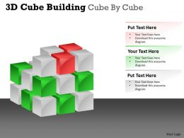 3D Cube Building Cube By Cube PPT 42