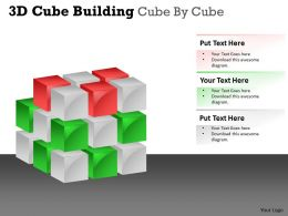 3D Cube Building Cube By Cube PPT 43