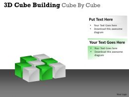 3D Cube Building Cube By Cube PPT 52