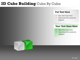 3D Cube Building Cube Powerpoint Presentation Slides DB