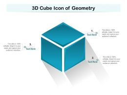 3d Cube Icon Of Geometry