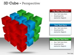 3D Cube Perspective diagram 3