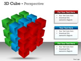 3D Cube Perspective PPT 58