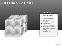 3D Cubes 2x2x2 Powerpoint Presentation Slides