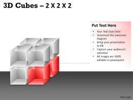 3D Cubes 2x2x2 PPT 64