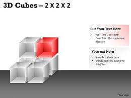 3D Cubes 2x2x2 PPT 71