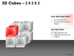 3D Cubes 2x2x2 PPT 72