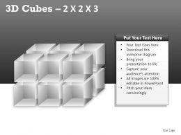 3D Cubes 2x2x3 Powerpoint Presentation Slides