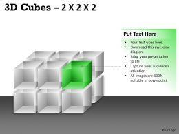 3D Cubes 2x2x3 PPT 75