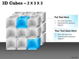 3D Cubes 2x3x3 PPT 85